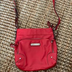 Red Franco Sarto Crossbody Bag
